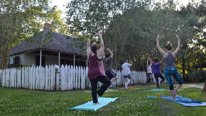 Take 5: Weird places to do yoga