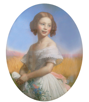 Agnes de Villarson's great great grandmother in a portrait from 1841