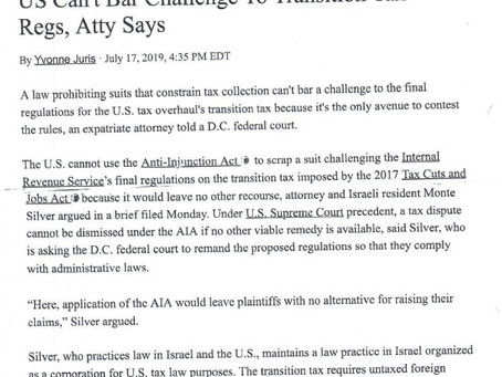 Tax360 reports on motion to dismiss:  Anti-Injunction Act does not bar small business lawsuit