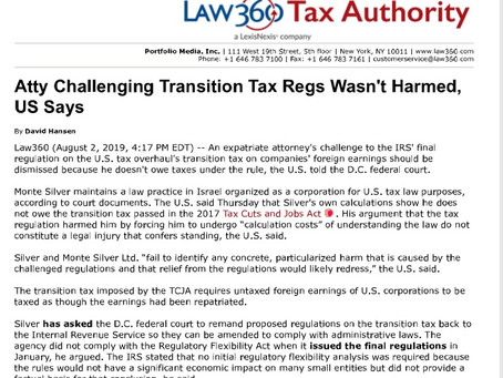 Law360 covers Government final reply brief