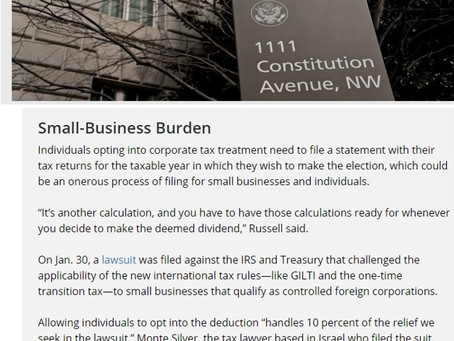 Bloomberg on the lawsuit and our win with Treasury
