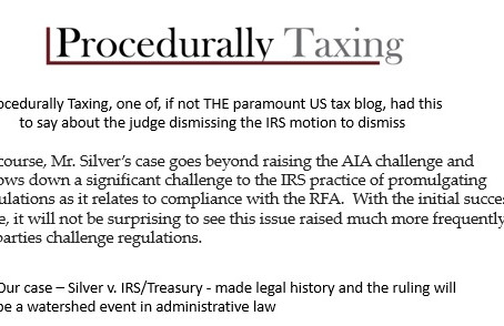 Top US tax blog explains our win and why it is meaningful