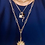 Thumbnail: Sunburst Paperclip Chain Necklace in Worn Gold