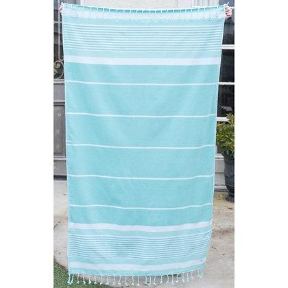 Bahama Stripe Beach Towel in Mint