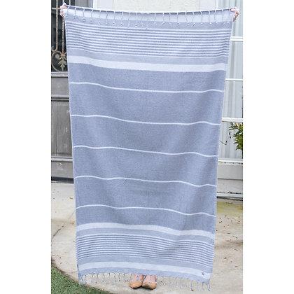 Bahama Stripe Beach Towel in Gray