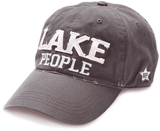 """Lake People"" Dark Gray Adjustable Hat"