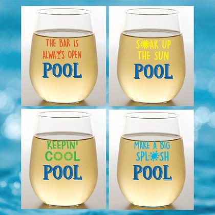 Pool Stemless Wine Glasses