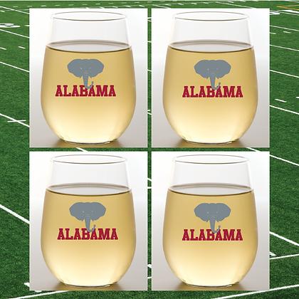 Alabama Stemless Wine Glasses