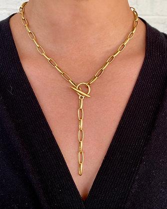 Paper Clip Drop Necklace