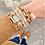 Thumbnail: Brandi Padlock Chain Bracelet in Worn Gold