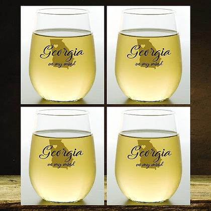 Georgia Stemless Wine Glasses