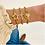 Thumbnail: Grace Star Ball Chain Bracelet in Worn Gold