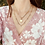 Thumbnail: Lyra Paperclip Chain Rhinestone Drip Necklace in Worn Gold