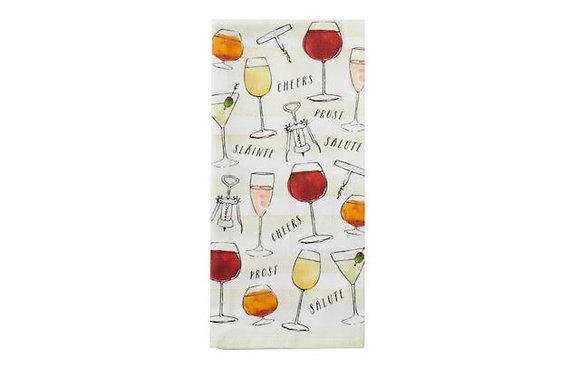 Wine & Cheer Bar Towel