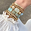 Thumbnail: Blessed Paperclip Chain ID Plate Bolo Bracelet in Worn Gold