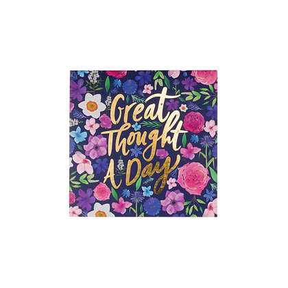 """Floral """"Great Thought A Day"""" Pad"""