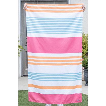 Paradise Stripe Microfiber Beach Towel in Sherbert/Aruba