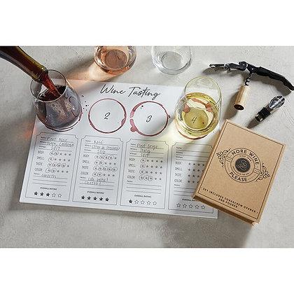 Wine Tasting Placemat Set
