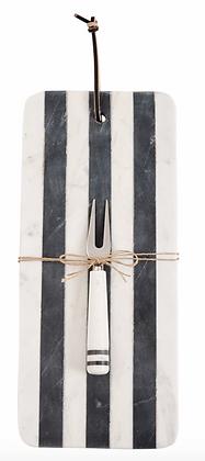 Long Striped Marble Board W/ Spreader