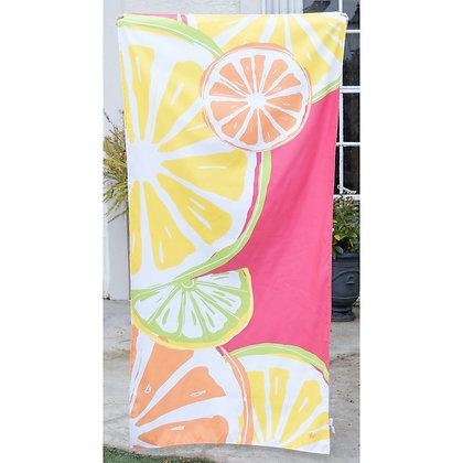 Tutti Fruiti Beach Towel in Pink/Yellow