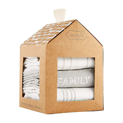 """Family Makes This A Home"" Towel Set"