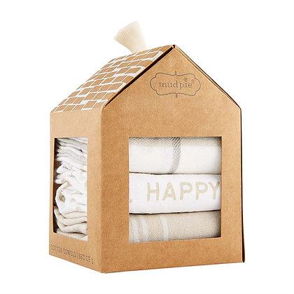 """""""Happy Place"""" Towel Set"""