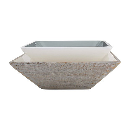 Square Enamel Bowl Set