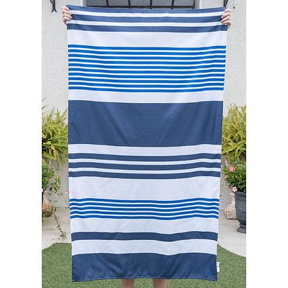 Paradise Stripe Microfiber Beach Towel in Navy/Blue