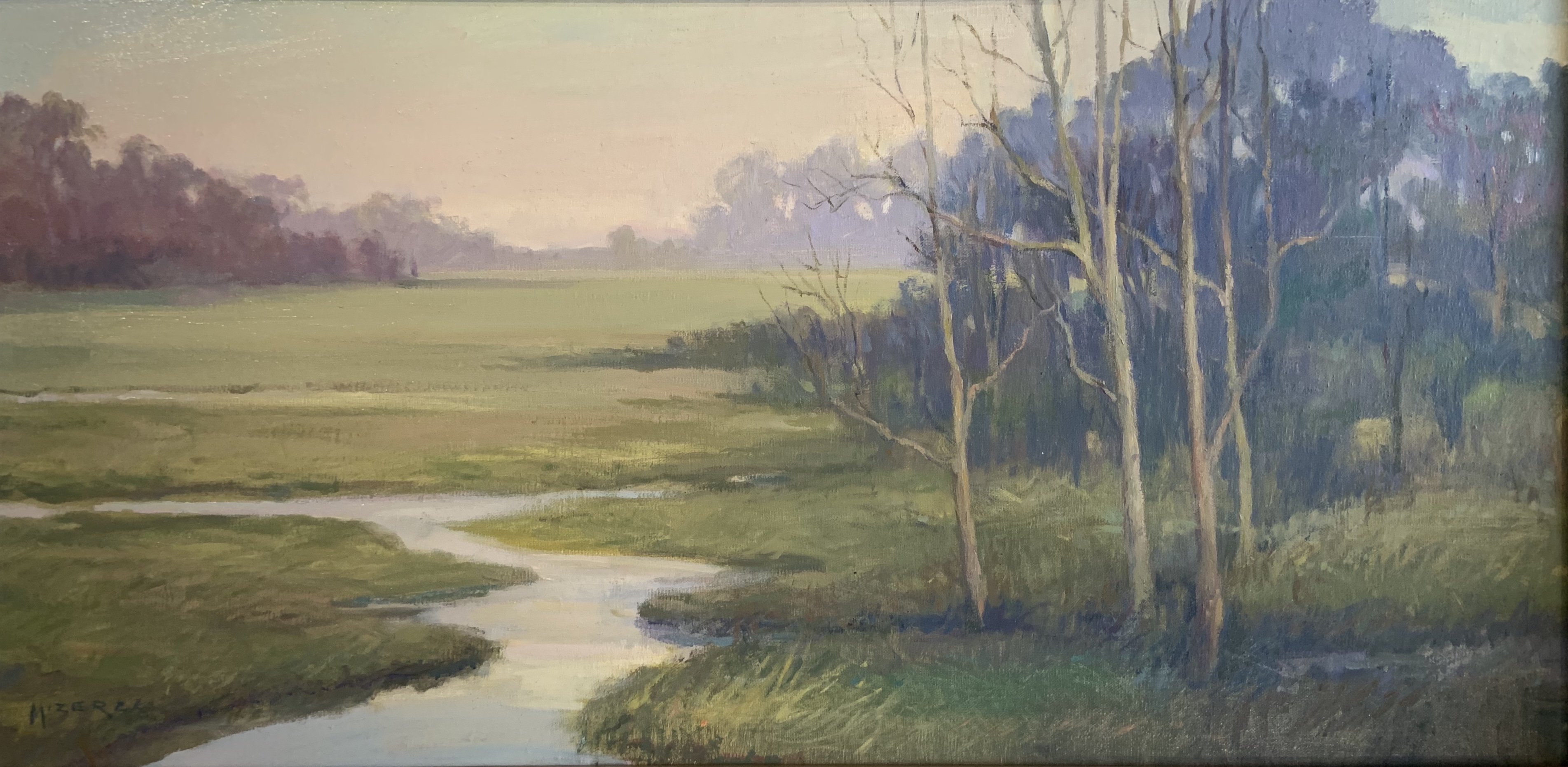 Marsh Mist-Mizerek, oil 12x24 $2700 sold