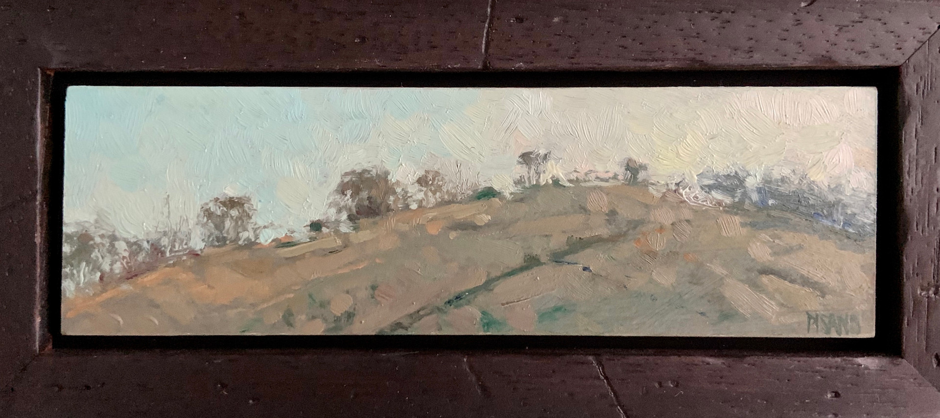Grazin' Field by Crista Pisano, oil 2x6.5 $725