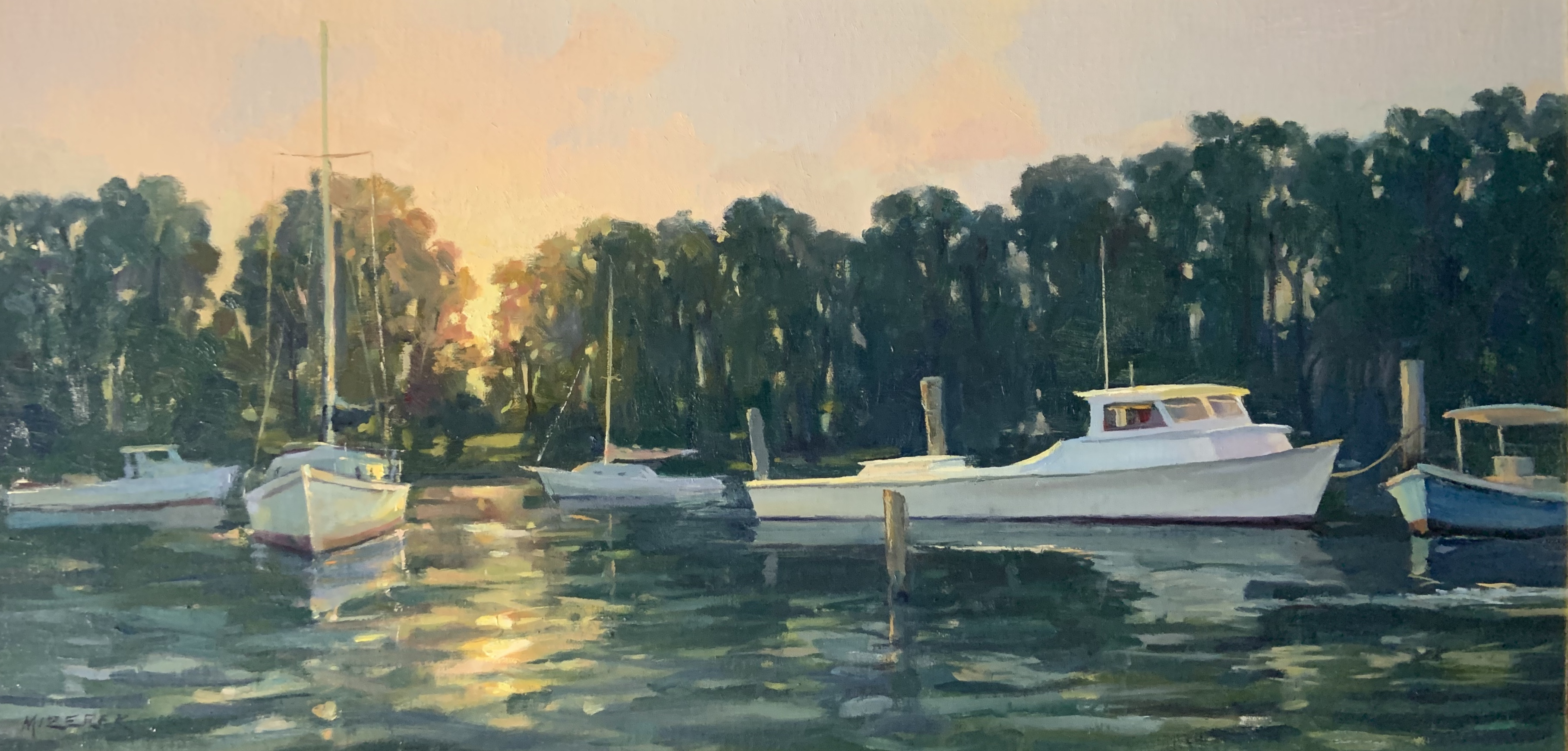 First Light of Dawn-Mizerek, oil 12x24 $2700