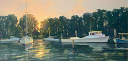 First Light of Dawn-Mizerek, oil 12x24 $2700 sold