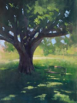 Dawn on the Farm, oil 14x18 $1950