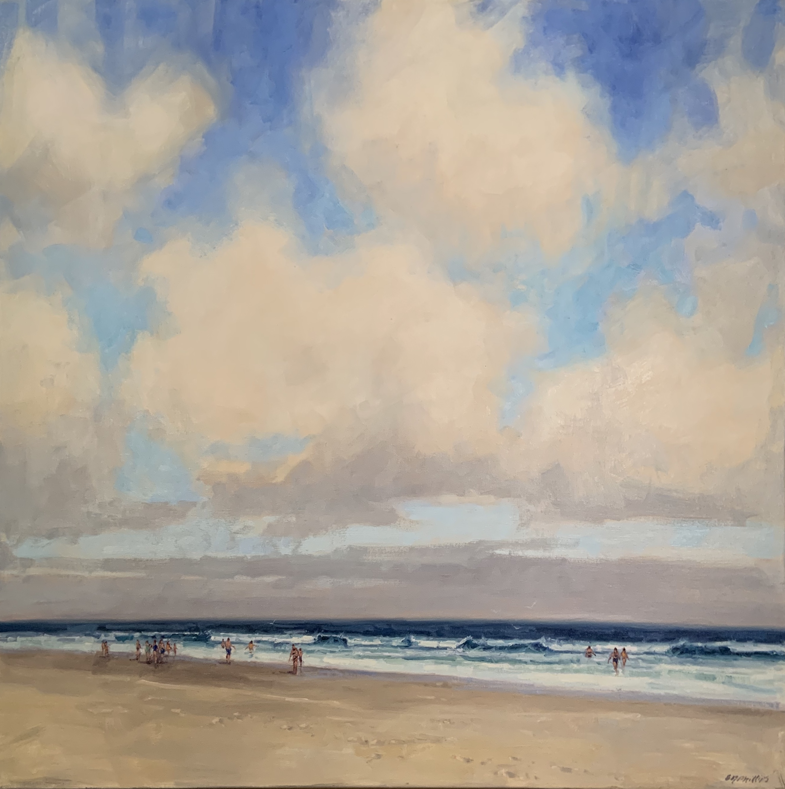 Wish You Were Here, oil 30x30 $4800