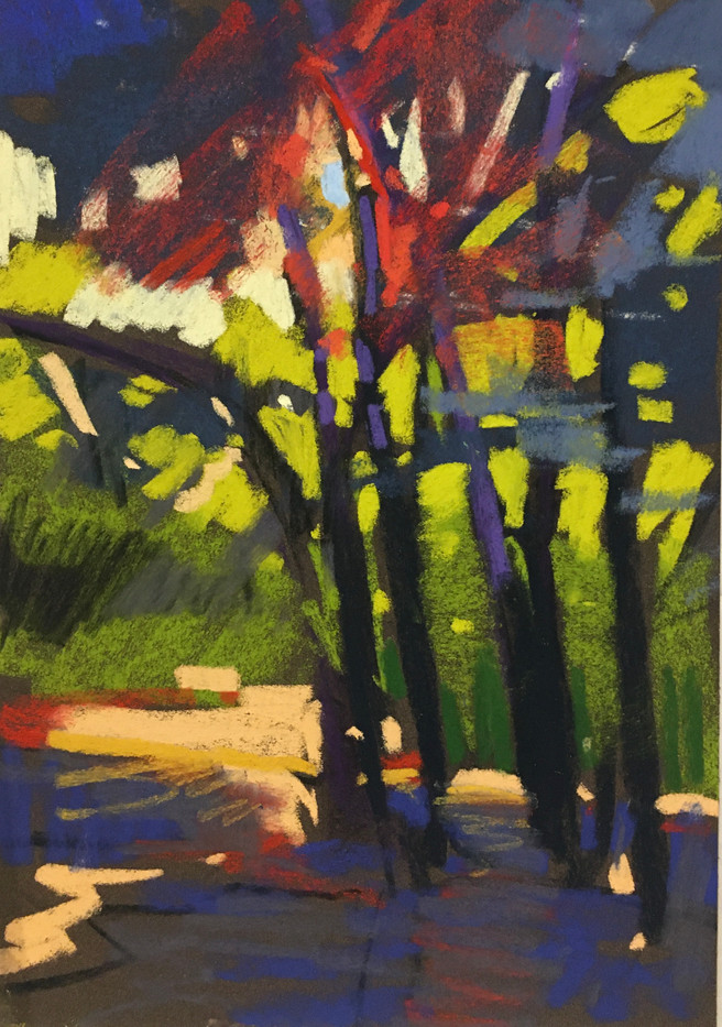 Afternoon Walk-Will, pastel 8x10 $950