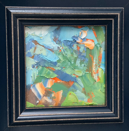 Summer Country Colors by Cynthia Rosen, oil 4x4 $375