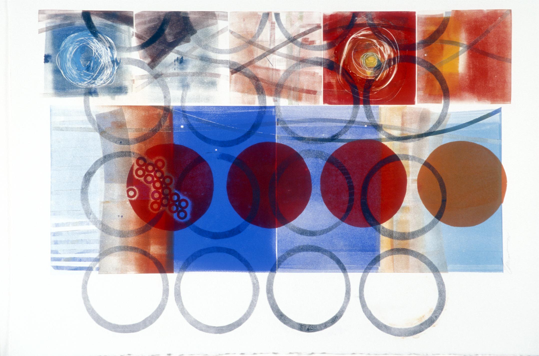 Overlapping Circles-Mastin White, 44x30 $2070