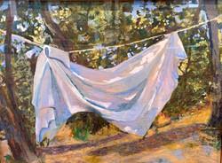 Clothesline_Fish, pastel 18x24 $1600
