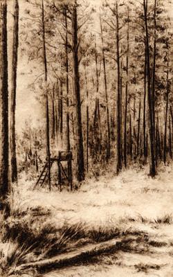 Carlton Woods-Fain, watercolor/etching $325