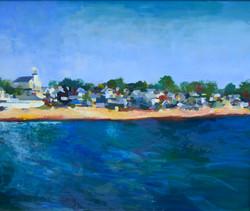 Seaside Town_Fish, oil 20x24 $1600