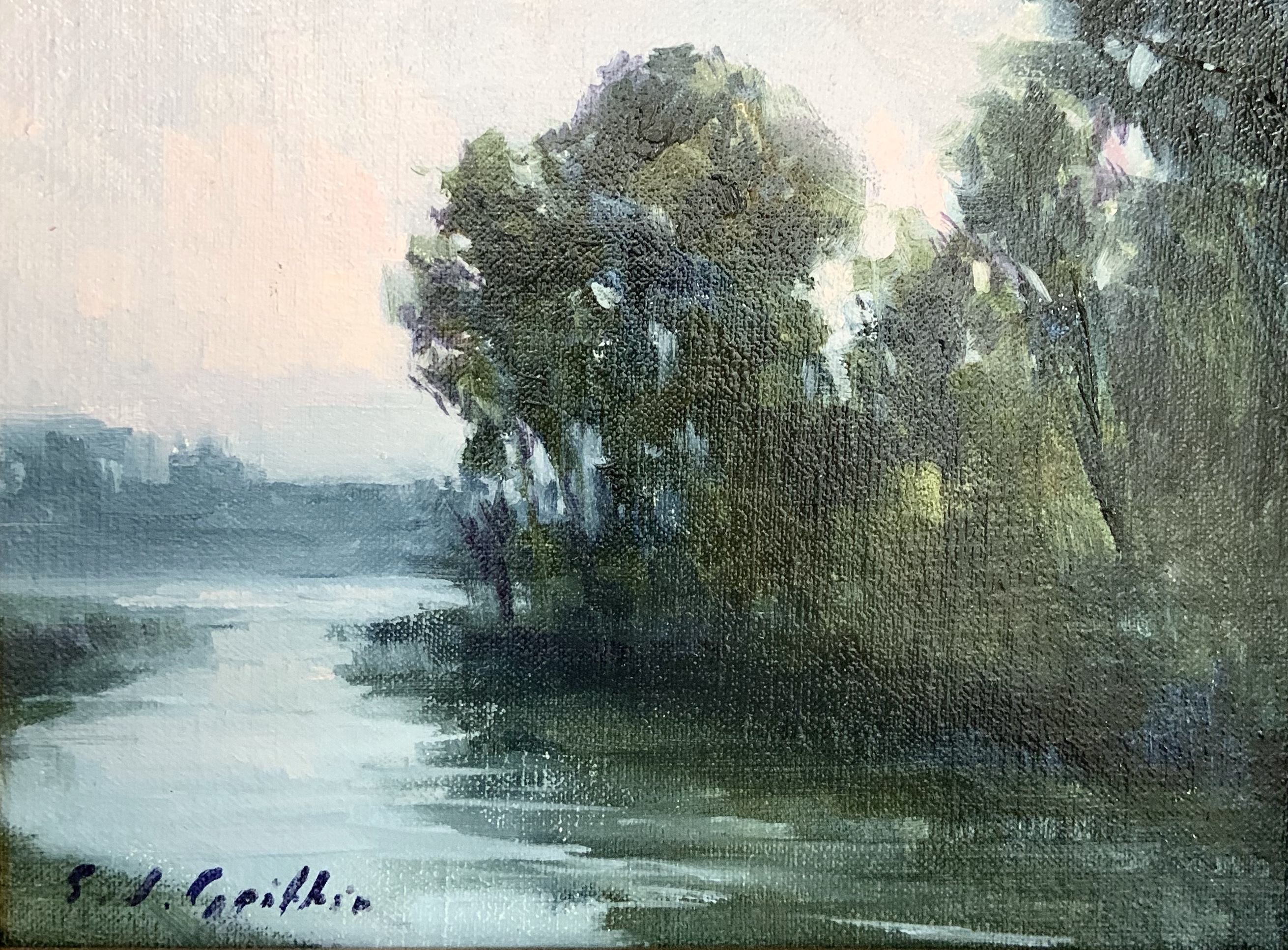 After Rain-Griffin, oil 6x8 $400