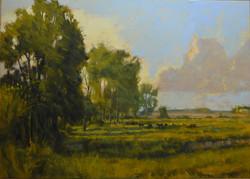 Summer Shadows, oil on linen 30x42 $5500
