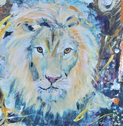 King Leo-H-Hodges, mixed media $500