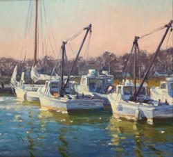 Tilghman Workboats-Griffin, oil 18x20 $1800 Sold