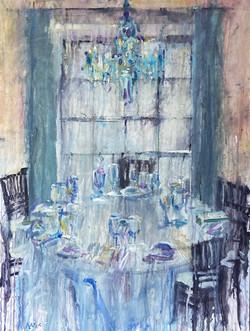 KenKarlic_ChampagneANDChandeliers_watercolorgouache_40x30