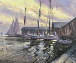 Sentinels of the Chesapeake-Griffin, oil 30x36 $5200
