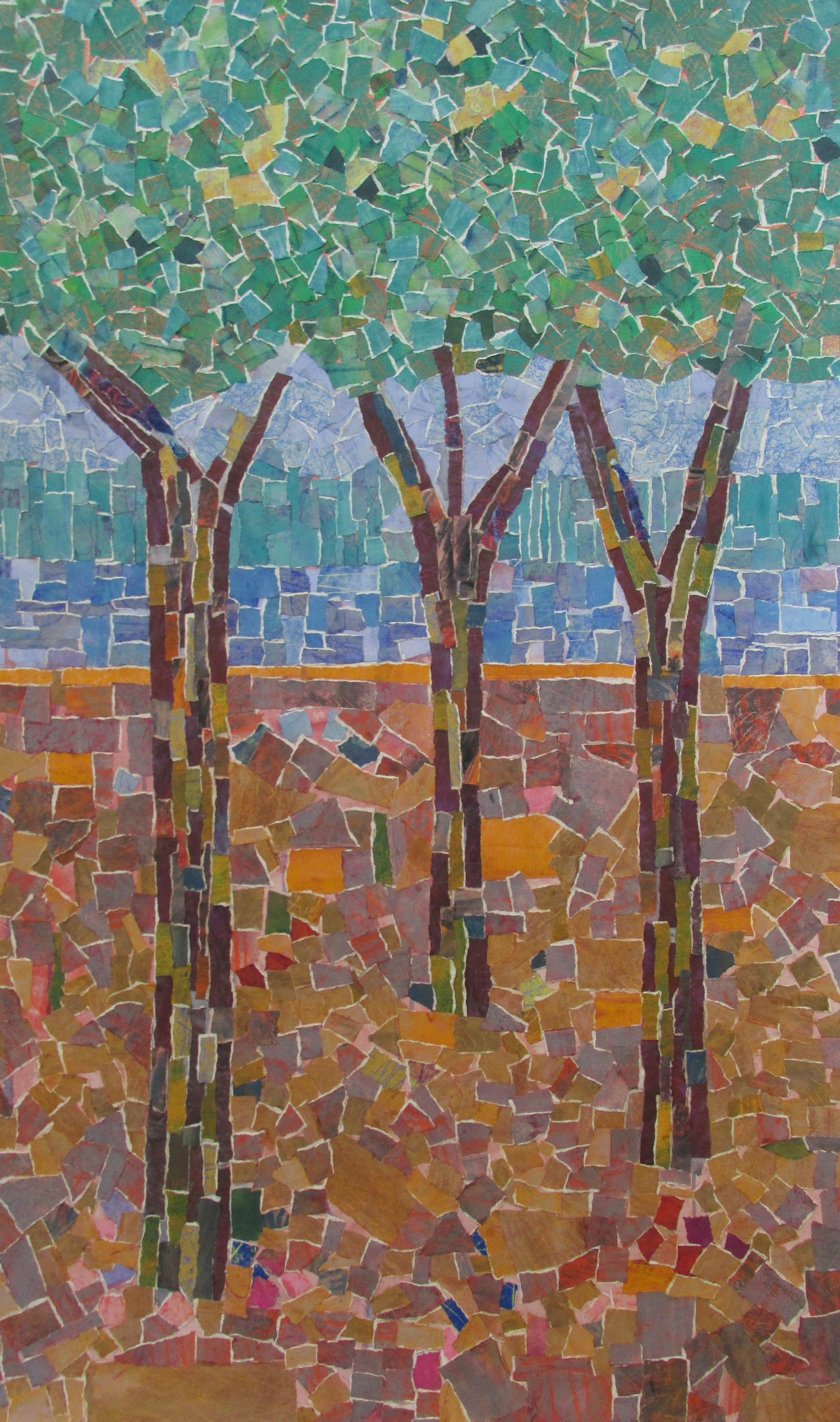 Three Trees in Gold Field-Southwick, collage $2800