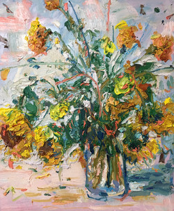 Still Life with Sunflowers, Haynes oil 2