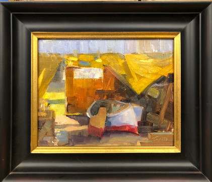 Under the Tent-Tankersley, oil 8x10 $1100