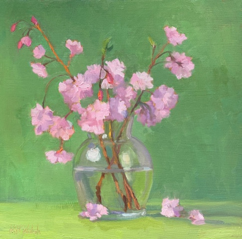 Blossoms by Meg Walsh, Oil 10x10 $800